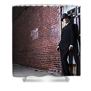 Forties Style Film Noir Gangster Shower Curtain