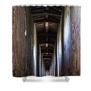 Fortified Covered Walkway Shower Curtain
