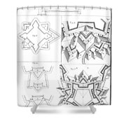Fortress, 18th Century Shower Curtain