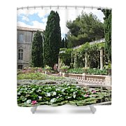 Fortress Garden  Villeneuve Les Avignon Shower Curtain