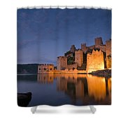 Fortress Golubac Shower Curtain