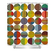 Forty Eight Circles 2.0 Shower Curtain