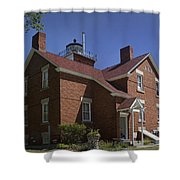 Forty Mile Point Lighthouse In Michigan Number 417 Shower Curtain
