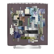 Forty Nine Shades Of Gray II Shower Curtain