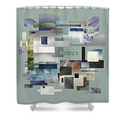 Forty Nine Shades Of Gray IIi Shower Curtain