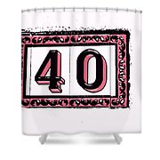 Forty Pink And Black Shower Curtain