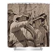 Forward March Shower Curtain