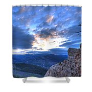 Fossil Hill Shower Curtain