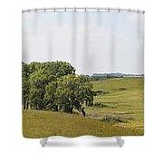 Fossil Prairie Panoramic 3 Shower Curtain