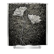 Fossilized Flowers Shower Curtain