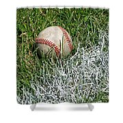 Foul Ball Shower Curtain