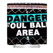 Foul Ball Area Shower Curtain