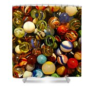 Found My Marbles Shower Curtain