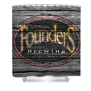 Founders Brewing Shower Curtain