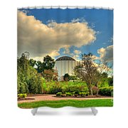 Founders Hall From The Garden Shower Curtain