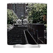 Fountain Abstract Shower Curtain