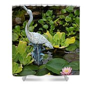 Fountain Among Lilies Shower Curtain