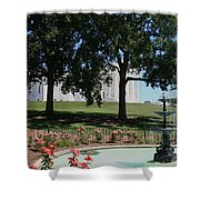 Fountain At Capitol Square  Shower Curtain
