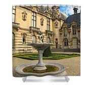 Fountain At Chateau De Chantilly Shower Curtain