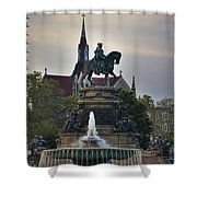 Fountain At Eakins Oval Shower Curtain