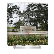 Fountain At Nottoway Shower Curtain