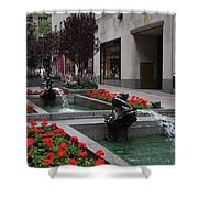 Fountain At Rockefeller Center Nyc Shower Curtain