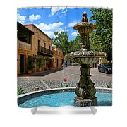Fountain At Tlaquepaque Arts And Crafts Village Sedona Arizona Shower Curtain