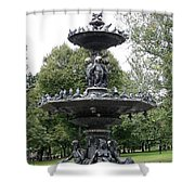 Fountain Boston Common Shower Curtain