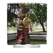 Fountain Cloister St. Marienstern - Germany Shower Curtain