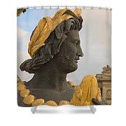 Fountain Detail Shower Curtain