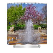 Fountain In Coolidge Park Shower Curtain