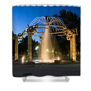 Fountain In Riverfront Park Shower Curtain