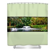 Fountain In The Park Shower Curtain