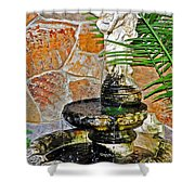 Fountain Of Friendship Shower Curtain