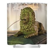 Fountain Of The Lions At Plaza Las Delicias In Puerto Rico Shower Curtain