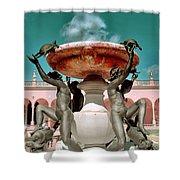 Fountain Of The Tortoises Ringling Museum Sarasota Shower Curtain