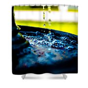 Fountain Of Time Shower Curtain