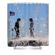 Fountain Of Youth Shower Curtain by Karen Wiles