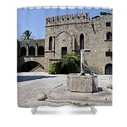Fountain  - Rhodos City Shower Curtain