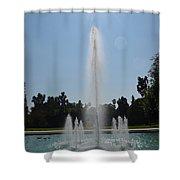 Fountain - Los Angeles County Arboretum And Botanic Garden Shower Curtain
