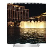 Fountain Vegas Shower Curtain