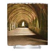 Fountain's Abbey Cellarium Shower Curtain