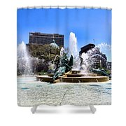 Fountains Shower Curtain