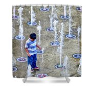 Fountains Of Youth Shower Curtain by Jennie Breeze