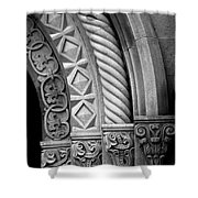 Four Arches Shower Curtain by Inge Johnsson