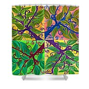 Four Branches By Jrr Shower Curtain