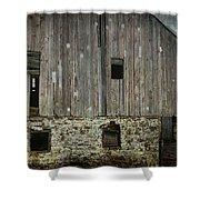 Four Broken Windows Shower Curtain by Joan Carroll