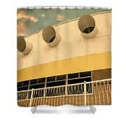 Four By Sea Vintage North Shore Yacht Club Salton Sea Shower Curtain