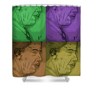Four Colours Of Obama Shower Curtain