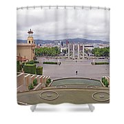 Four Columns And Magic Fountain Shower Curtain